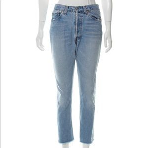 Reformation Mid-Rise Straight Leg Jeans